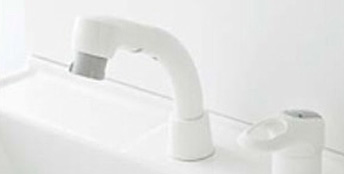 エコシングル水栓(ホワイト)